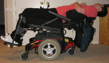 wheelchair reclined.